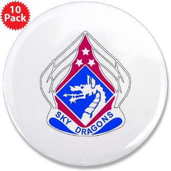 "18ABC - M01 - 01 - DUI - XVIII Airborne Corps 3.5"" Button (10 pack)"