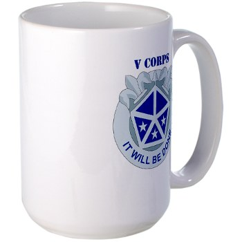 vcorps - M01 - 03 - DUI - V Corps with text Large Mug