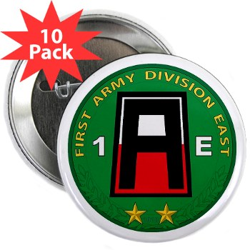 "01AE - M01 - 01 - First Army Division East 2.25"" Button (10 pack)"