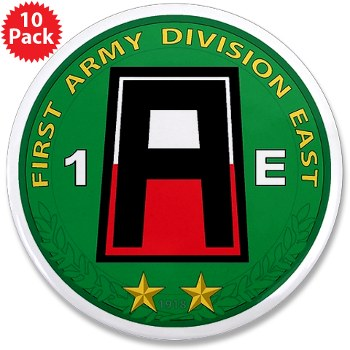 "01AE - M01 - 01 - First Army Division East 3.5"" Button (10 pack)"
