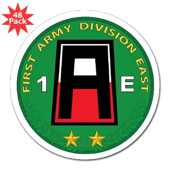 "01AE - M01 - 01 - First Army Division East 3"" Lapel Sticker (48 pk)"