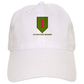 1ID - A01 - 01 - SSI - 1st Infantry Division with Text Cap