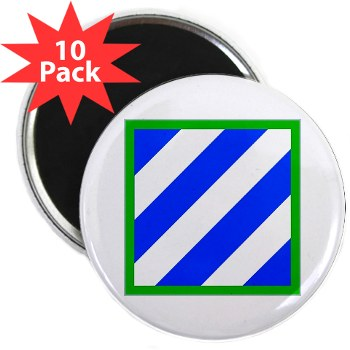 "03ID - M01 - 01 - SSI - 3rd Infantry Division 2.25"" Magnet (10 pack)"