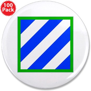 "03ID - M01 - 01 - SSI - 3rd Infantry Division 3.5"" Button (100 pack)"