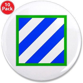"03ID - M01 - 01 - SSI - 3rd Infantry Division 3.5"" Button (10 pack)"