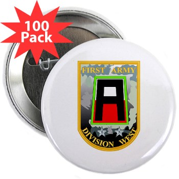 "01AW - M01 - 01 - SSI - First Army Division West 2.25"" Button (100 pack)"