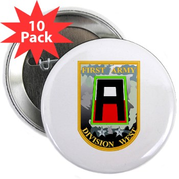 "01AW - M01 - 01 - SSI - First Army Division West 2.25"" Button (10 pack)"
