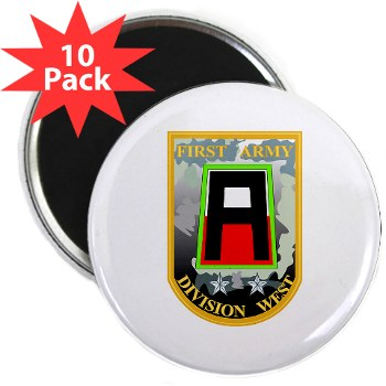 "01AW - M01 - 01 - SSI - First Army Division West 2.25"" Magnet (10 pack)"
