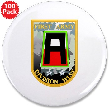"01AW - M01 - 01 - SSI - First Army Division West 3.5"" Button (100 pack)"