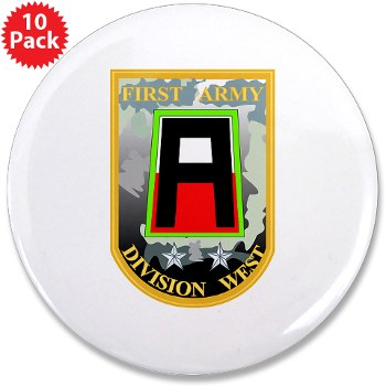 "01AW - M01 - 01 - SSI - First Army Division West 3.5"" Button (10 pack)"