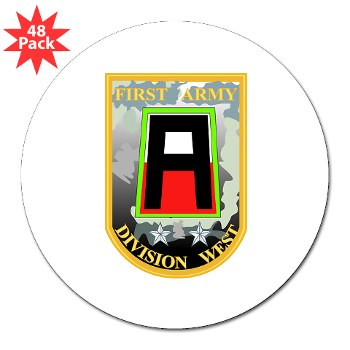"01AW - M01 - 01 - SSI - First Army Division West 3"" Lapel Sticker (48 pk)"