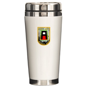 01AW - M01 - 03 - SSI - First Army Division West Ceramic Travel Mug