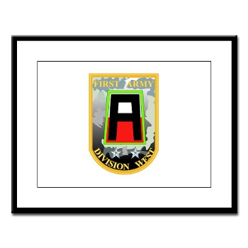 01AW - M01 - 01 - SSI - First Army Division West Large Framed Print
