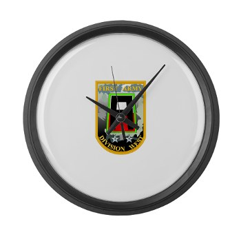 01AW - M01 - 03 - SSI - First Army Division West Large Wall Clock