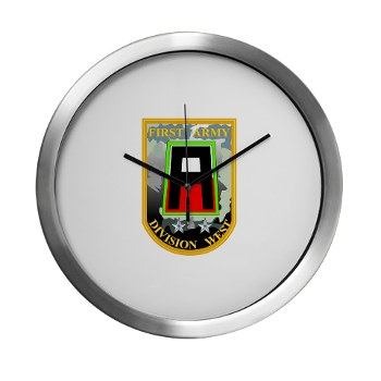 01AW - M01 - 03 - SSI - First Army Division West Modern Wall Clock