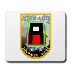 01AW - M01 - 03 - SSI - First Army Division West Mousepad