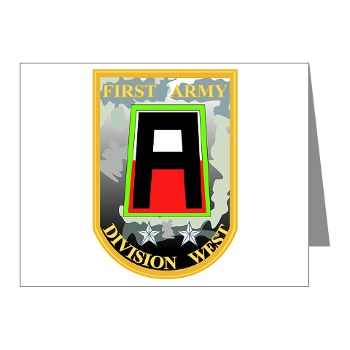 01AW - M01 - 02 - SSI - First Army Division West Note Cards (Pk of 20)