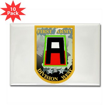 01AW - M01 - 01 - SSI - First Army Division West Rectangle Magnet (10 pk)