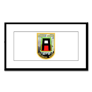 01AW - M01 - 01 - SSI - First Army Division West Small Framed Print