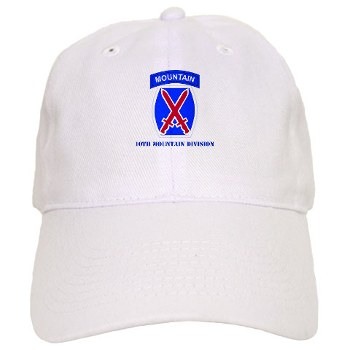 10mtn - A01 - 01 - SSI - 10th Mountain Division with Text Cap