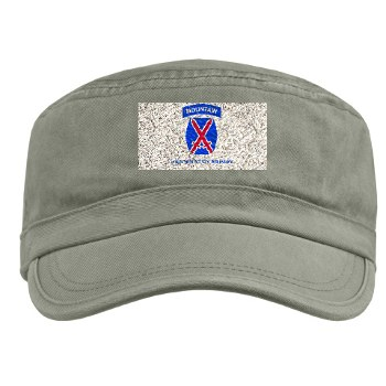 10mtn - A01 - 01 - SSI - 10th Mountain Division with Text Military Cap