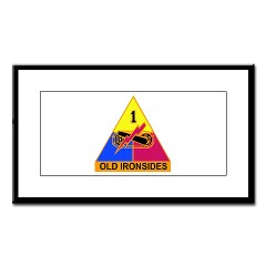 1AD - M01 - 01 - SSI - 1st Armored Division Small Framed Print