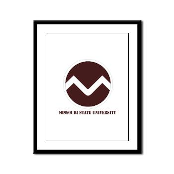 missouristate - M01 - 02 - SSI - ROTC - Missouri State University with Text - Framed Panel Print