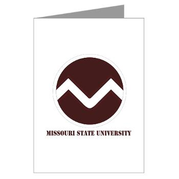 missouristate - M01 - 02 - SSI - ROTC - Missouri State University with Text - Greeting Cards (Pk of 10)