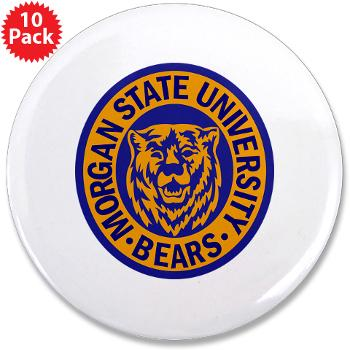 "morgan - M01 - 01 - SSI - ROTC - Morgan State University - 3.5"" Button (10 pack)"