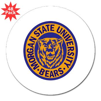 "morgan - M01 - 01 - SSI - ROTC - Morgan State University - 3"" Lapel Sticker (48 pk)"