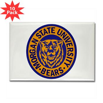 morgan - M01 - 01 - SSI - ROTC - Morgan State University - Rectangle Magnet (10 pack)