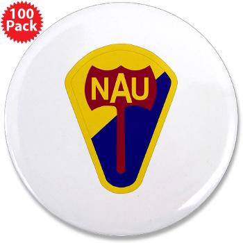"nau - M01 - 01 - SSI - ROTC - Northern Arizona University - 3.5"" Button (100 pack)"