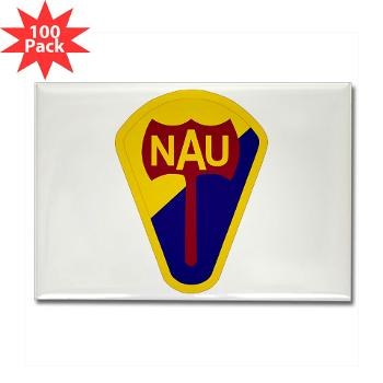 nau - M01 - 01 - SSI - ROTC - Northern Arizona University - Rectangle Magnet (100 pack)
