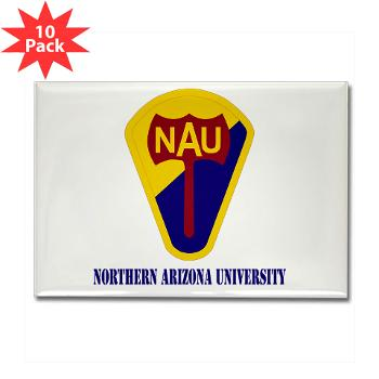 nau - M01 - 01 - SSI - ROTC - Northern Arizona University with Text - Rectangle Magnet (10 pack)
