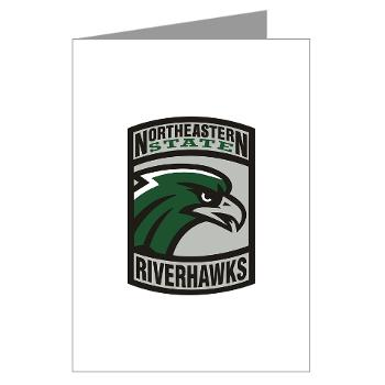 nsuok - M01 - 02 - SSI - ROTC - Northeastern State University - Greeting Cards (Pk of 20)