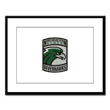 nsuok - M01 - 02 - SSI - ROTC - Northeastern State University - Large Framed Print