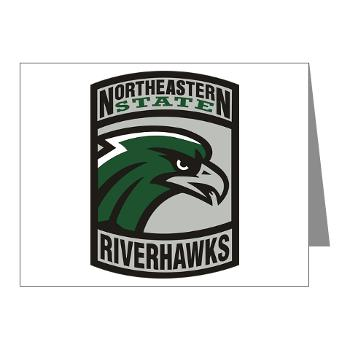 nsuok - M01 - 02 - SSI - ROTC - Northeastern State University - Note Cards (Pk of 20)