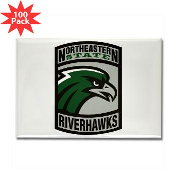 nsuok - M01 - 01 - SSI - ROTC - Northeastern State University - Rectangle Magnet (100 pack)