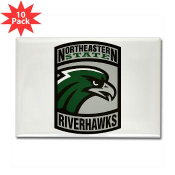 nsuok - M01 - 01 - SSI - ROTC - Northeastern State University - Rectangle Magnet (10 pack)