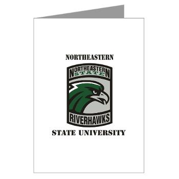 nsuok - M01 - 02 - SSI - ROTC - Northeastern State University with Text - Greeting Cards (Pk of 20)