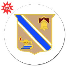 "quartermaster - M01 - 01 - DUI - Quartermaster Center/School 3"" Lapel Sticker (48 pk)"