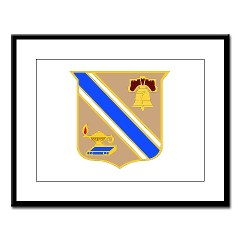 quartermaster - M01 - 02 - DUI - Quartermaster Center/School Large Framed Print