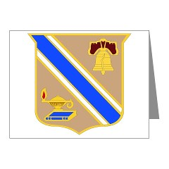 quartermaster - M01 - 02 - DUI - Quartermaster Center/School Note Cards (Pk of 20)
