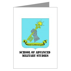 sams - M01 - 02 - DUI - School of Advanced Military Studies Greeting Cards (Pk of 20)
