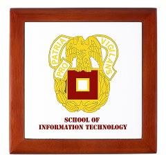 sit - M01 - 03 - DUI - School of Information Technology with Text Keepsake Box