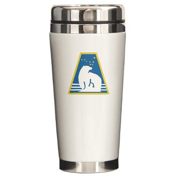 uaf - M01 - 03 - SSI - ROTC - University of Alaska Fairbanks - Ceramic Travel Mug