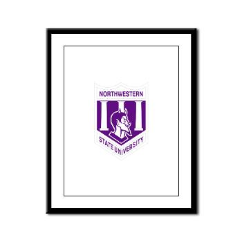 nsula - M01 - 02 - SSI - ROTC - Northwestern State University of Louisiana - Framed Panel Print