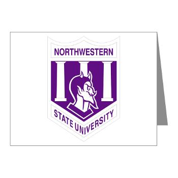 nsula - M01 - 02 - SSI - ROTC - Northwestern State University of Louisiana - Note Cards (Pk of 20)