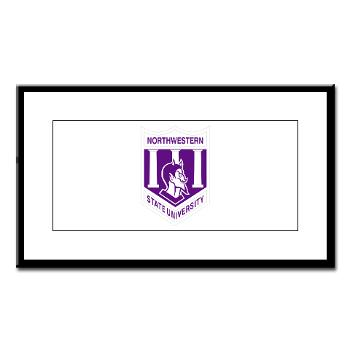 nsula - M01 - 02 - SSI - ROTC - Northwestern State University of Louisiana - Small Framed Print
