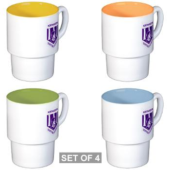 nsula - M01 - 03 - SSI - ROTC - Northwestern State University of Louisiana - Stackable Mug Set (4 mugs)